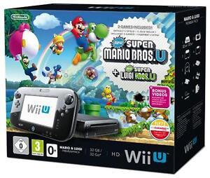 Wii-U-32GB-schwarz-Mario-Luigi-Bundle-Premium-Pack-incl-Mario-Bros-Luigi-U