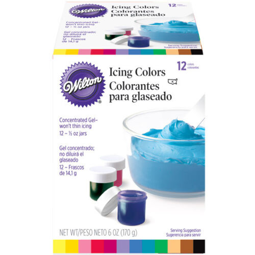 Wilton 12 COLOR ICING SET Sealed Food Cake Decorating in Home & Garden, Kitchen, Dining & Bar, Cake, Candy & Pastry Tools | eBay