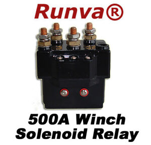 new runva 500a electric winch solenoid relay 12v 5000lb to 12000lb ebay