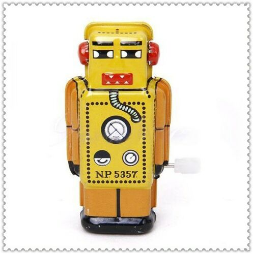Wind Up Mini walking Robot tin Toy clockwork mechanical Collectible Gift E1062 in Baby, Toys for Baby, Developmental Baby Toys | eBay