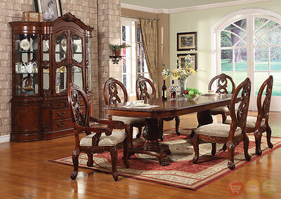 traditional formal dining room set cherry table chairs wood ebay