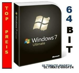 Windows 7 Ultimate 64 Bit inkl. SP1, OEM Win 7 Ult 64Bit, Deutsch, DVD