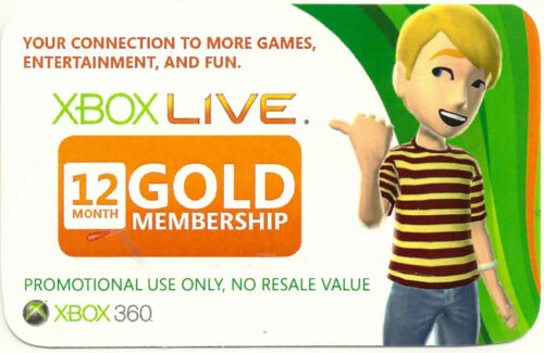 Windows Live Gold 12 Month Subscription in Video Games & Consoles, Prepaid Gaming Cards | eBay