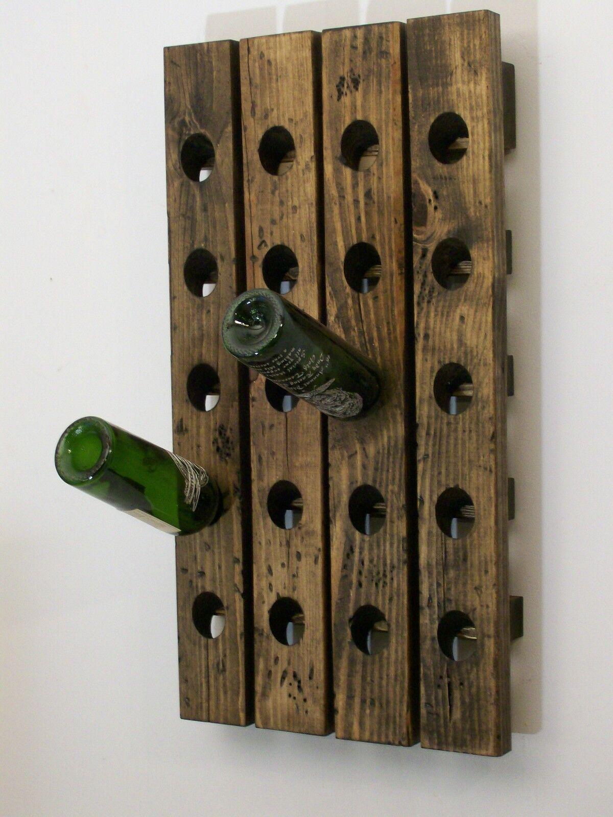 Image Wood Wall Wine Rack Download