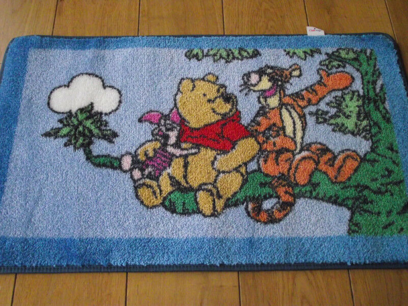 details about winnie pooh tigger piglet kids bedroom rug washable mat
