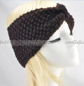 Winter women knit hairband crochet warmer head wrap headband ear