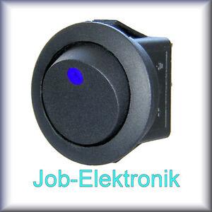 Wippschalter-1-polig-schwarz-beleuchtet-LED-blau-12V-16A-Schalter-Kippschalter