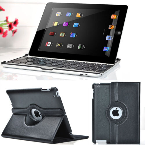 Wireless Bluetooth Keyboard+360°Smart Leather Cover Case For The New iPad 3rd 2 in Computers/Tablets & Networking, iPad/Tablet/eBook Accessories, Cases, Covers, Keyboard Folios | eBay