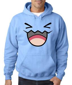Wobblefett hooded sweater pokemon anime black and white for Black sweater white shirt
