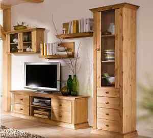 wohnwand 5tlg landhausstil tv regal schrank aus. Black Bedroom Furniture Sets. Home Design Ideas