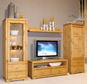 wohnwand wohnzimmerschrank anbauwand schrankwand holz. Black Bedroom Furniture Sets. Home Design Ideas
