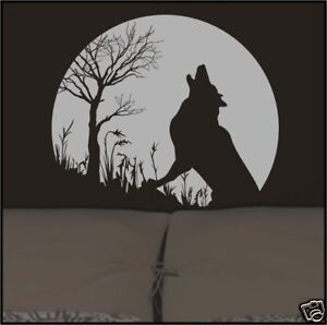 Wolf Moon Tree Removable Wall Decal Sticker Art Decor Ebay