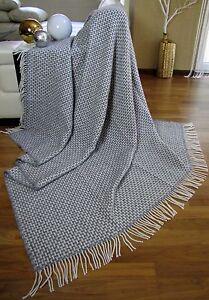 wolldecke 200x220cm wohndecke tagesdecke decke plaid. Black Bedroom Furniture Sets. Home Design Ideas