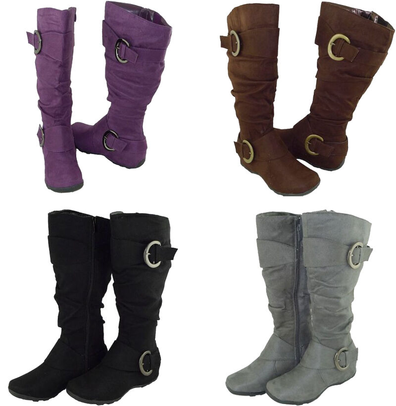boots knee high fashion design buckle style