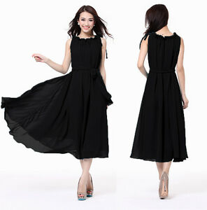 Women-Ladies-Formal-Black-Chic-Cocktail-Evening-Party-Plus-Dress-Size-20-22-24