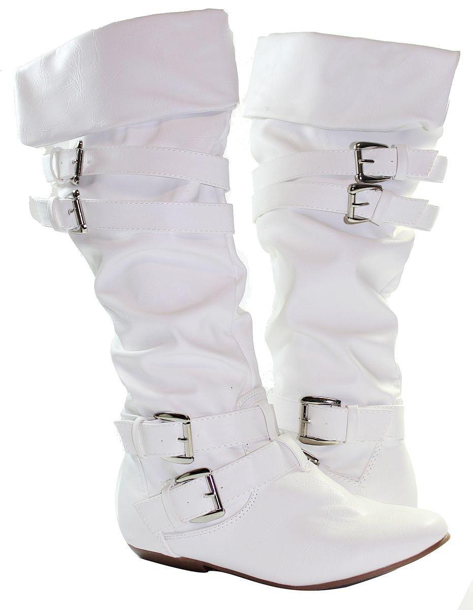 Unique Vintage 1980s Justin White Leather Cowboy Boots Women39s 6