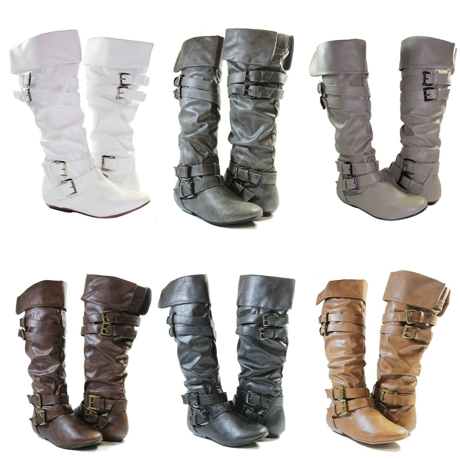 boots slouch manmade leather stylish