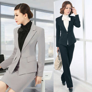 Luxury  Suits JacketPants WS001 White Pants Suit Womenin Pant Suits From