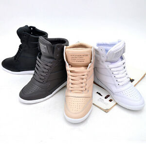 womens high top wedge sneakers tennis shoes