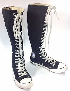 womens knee high lace up zipper converse all chuck