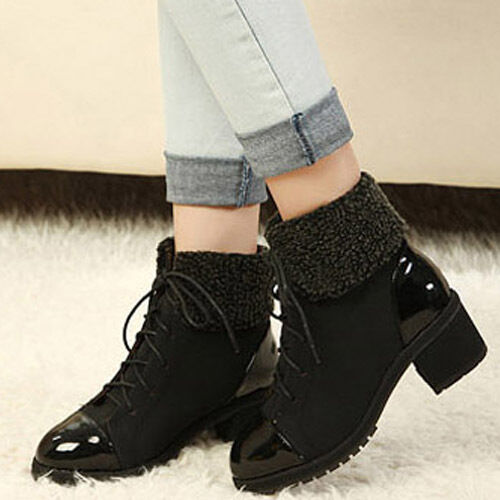 Womens Platform Pumps Heels Strap Lace-Up Winter Warm Ankle Boots Shoes in Clothing, Shoes & Accessories, Women's Shoes, Boots | eBay