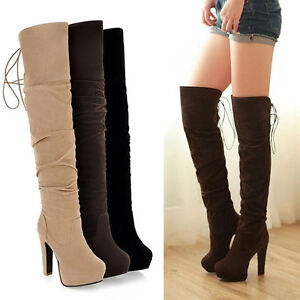 womens pull on lace up pleated toe high heel