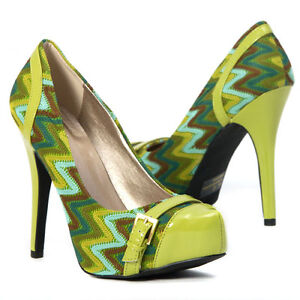 womens shoes lime green high heel buckle stilettos woven