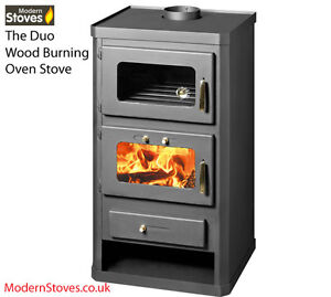 Wood-Burning-Multifuel-Stove-Oven-Cooker-Combination-16kw-Duo-Modern