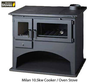 Wood Burning Range Stove Oven Cooker Multi Fuel Milan, Wood Stove