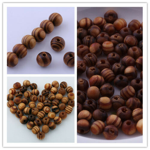 Wood Spacer Loose beads Bracelets charms Jewelry making Findings 6mm 8mm 10mm in Crafts, Beads & Jewelry Making, Beads, Pearls & Charms | eBay
