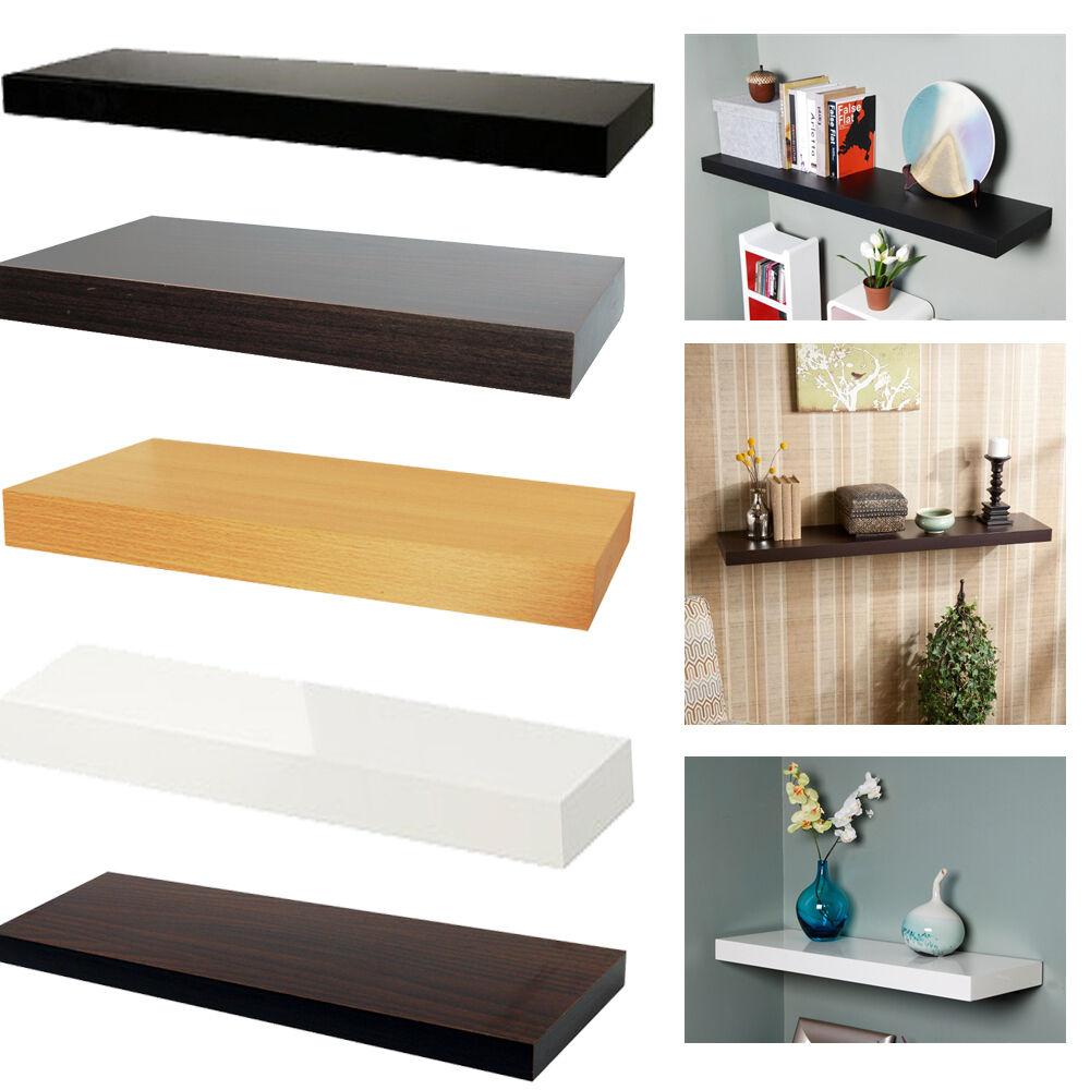Decorative Wall Shelves Espresso : Espresso display wall shelf decor round edge book