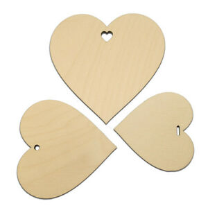 Wooden LOVE HEARTS Wedding Wish Tree Decorations Gift Tags