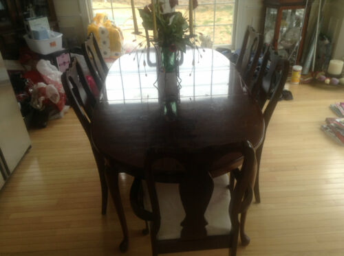 Wood veneer Dining Table and 6 chair set in Home & Garden, Furniture, Dining Sets | eBay