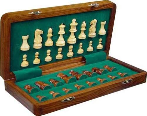 "Wooden Magnetic Chess Set,Complete Chess Set, 7"" X 7"" 32 magnetic Chess Pieces in Toys & Hobbies, Games, Board & Traditional Games 