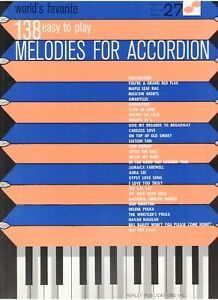 World's Favorite 138 Easy Melodies For Accordion in Musical Instruments & Gear, Accordion & Concertina | eBay