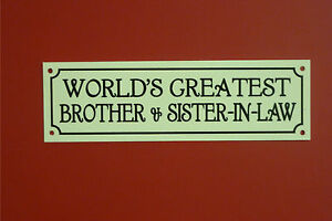 ... Brother & Sister-In-Law Christmas Wedding Anniversary Gift Sign eBay