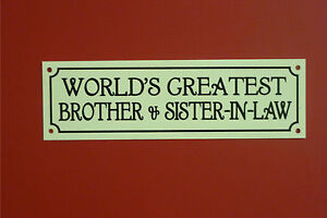 Wedding Gift Ideas For Brother In Law : ... Brother & Sister-In-Law Christmas Wedding Anniversary Gift Sign eBay