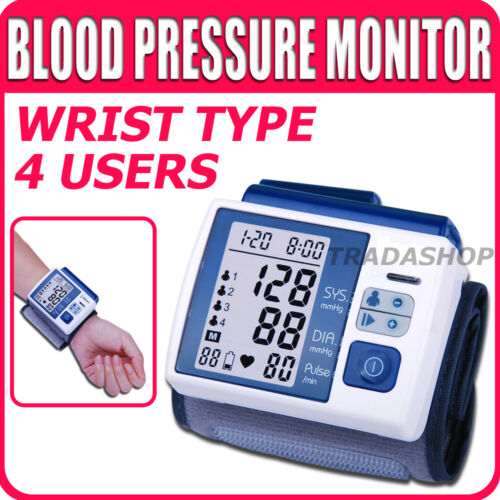 Wrist Blood Pressure Monitor Arm Meter Pulse Sphygmomanometer 4 users 99 Memory in Consumer Electronics, Gadgets & Other Electronics, Other | eBay