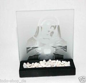 Wunderschoen-Teelichthalter-aus-Glas-und-Stein-Maria-Mutter-Jesu-Gebet-Kreuz-M2