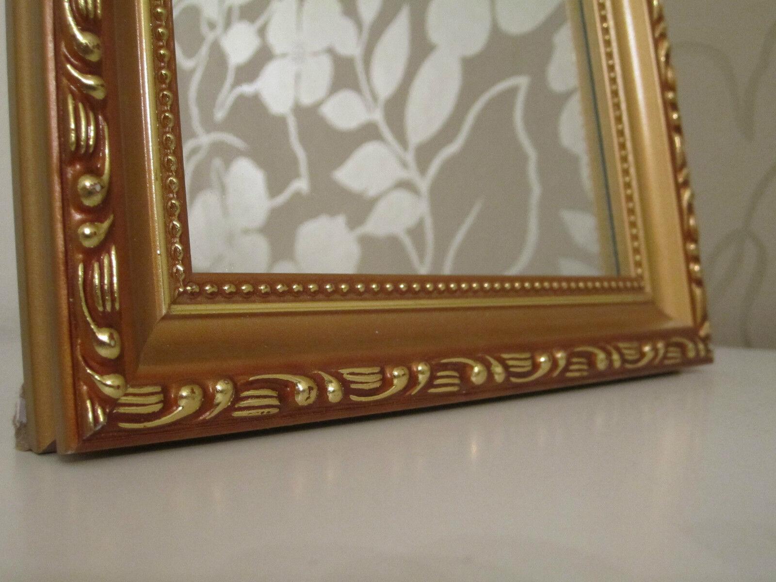 wundersch ner barock mini wandspiegel shabby antik look 20x25 cm gold neu wow ebay. Black Bedroom Furniture Sets. Home Design Ideas