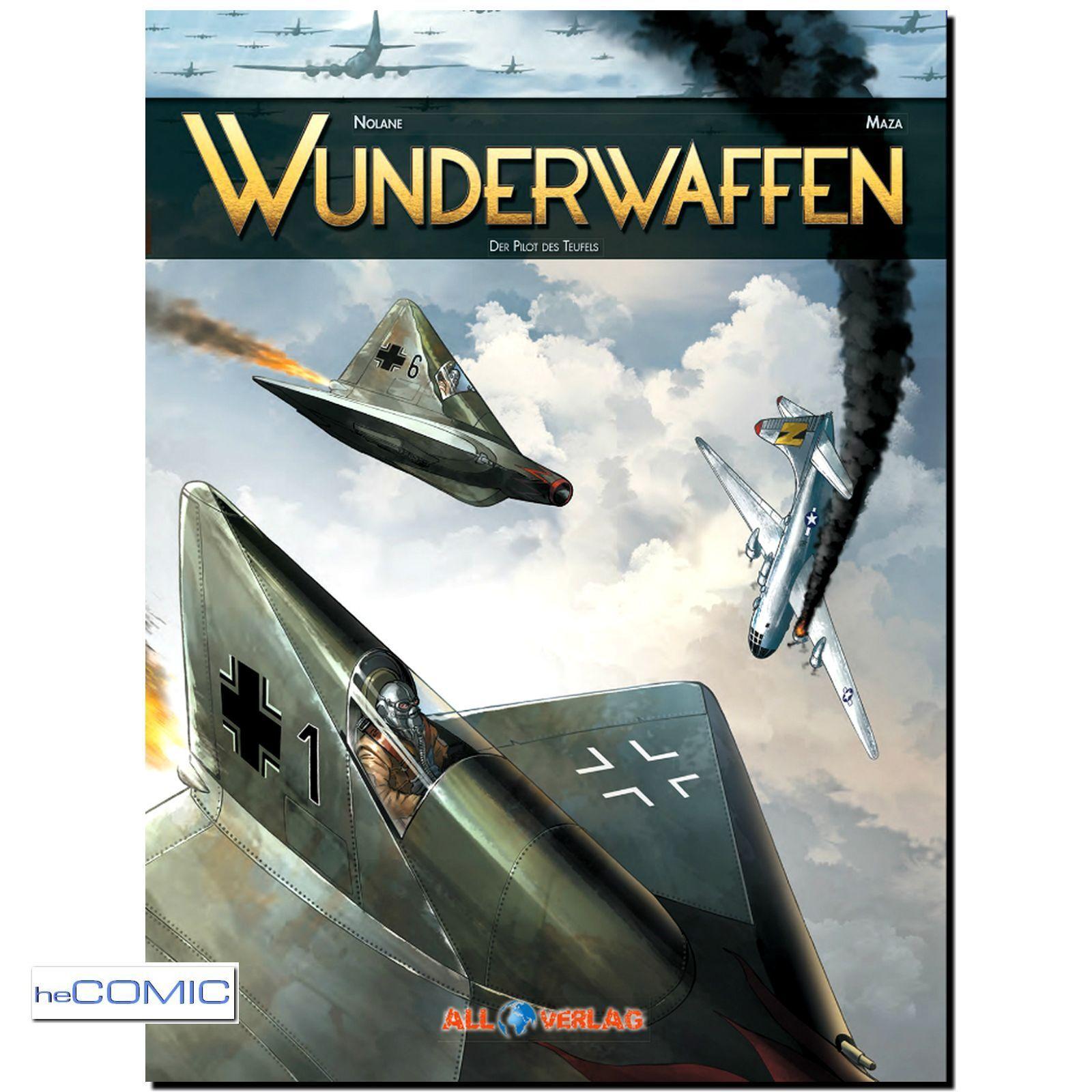 heComic: FLIEGERSTAFFEL | HISTORY 1940 Wunderwaffen Pilot des Teufels. Irrwitzige Dystopie mit Leseprobe