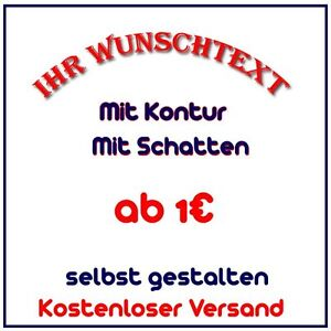 wunschtext auto aufkleber selbst gestalten schriftzug beschriftung selber name ebay. Black Bedroom Furniture Sets. Home Design Ideas