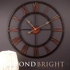 X large metal wrought iron wall clock vintage french Oversized metal wall clocks