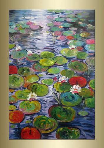 X.Ming Water Lily Modern Hand-Painted Floral oil painting bestbid_shop F267 in Art, Art from Dealers & Resellers, Paintings | eBay