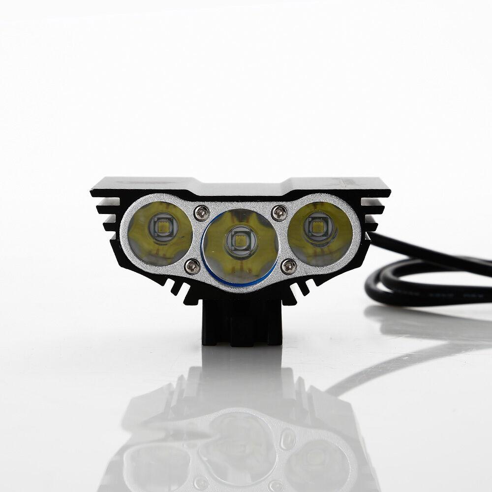 fahrradlampe x3 x2 x1 cree xm l fahrradbeleuchtung beleuchtung batteriepack ebay. Black Bedroom Furniture Sets. Home Design Ideas