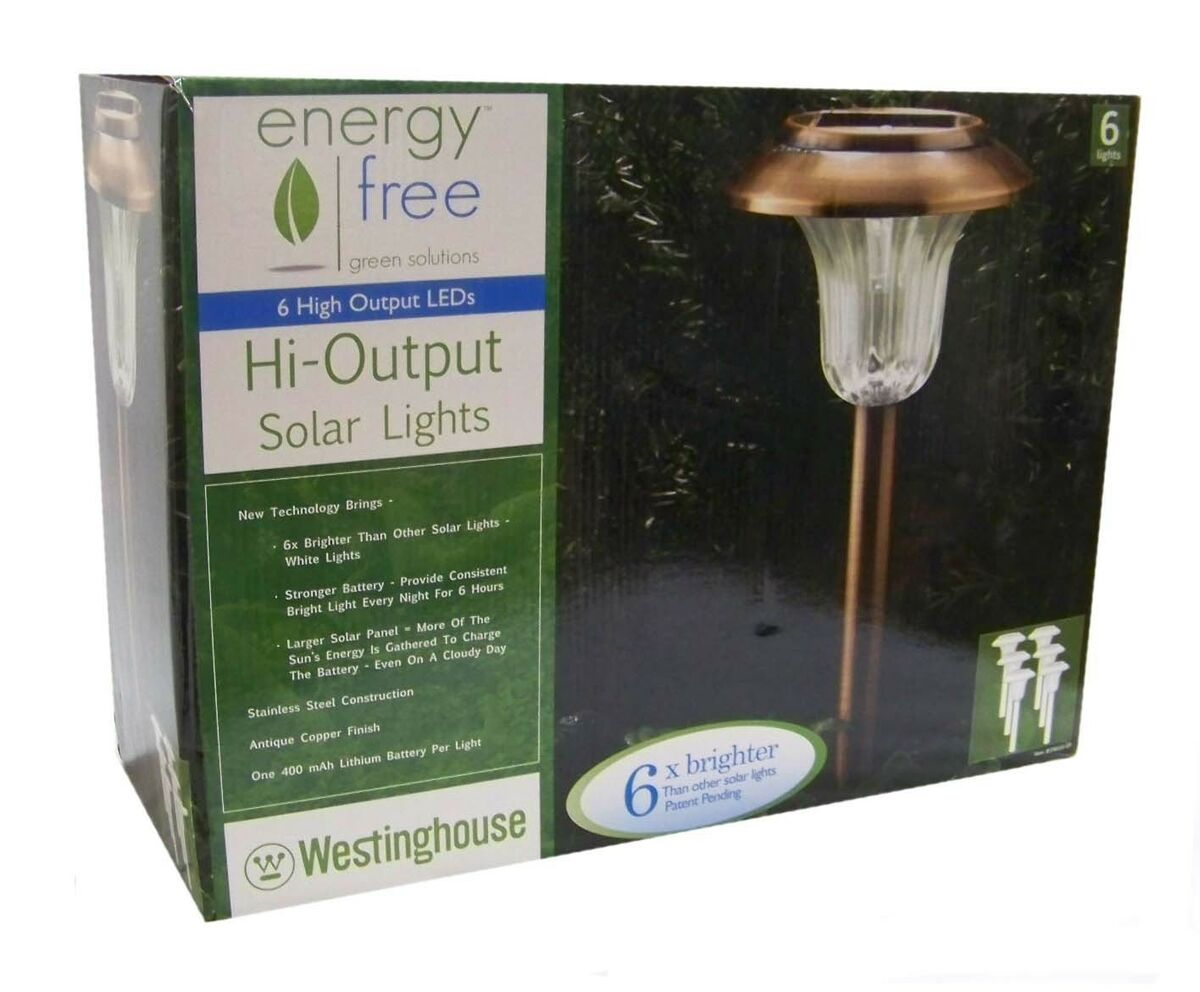 X6 Westinghouse Copper Solar Path Landscape Garden Lights Stainless Steel