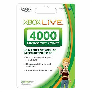 XBOX 360 LIVE 4000 POINTS GAMECARD *FACTORY SEALED* in Computers/Tablets & Networking, Software, Other | eBay