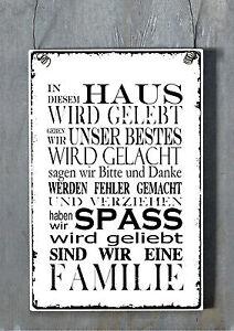 XL-Schild-Nostalgie-shabby-Vintage-FAMILIE-Landhaus-antik-Look-Tafel