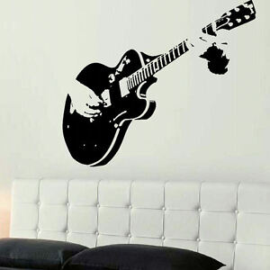 Xtra large guitar guitarist wall giant art mural sticker for 8 sheet giant wall mural