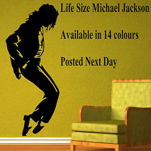 xtra large michael jackson life size wall sticker mural large banksy sexy lady upto 5ft life size wall art mural